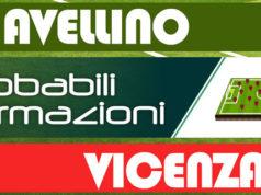 Probabili formazioni Avellino-Vicenza